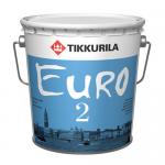 Краска для стен и потолков Tikkurila Euro 2 (9 л)