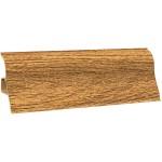 Плинтус ПВХ Ecoline-150 дуб темный, 2,5 м