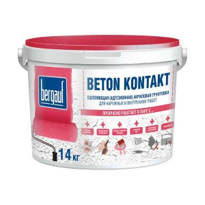 Bergauf BETON KONTAKT грунтовка адгезионная, 14 кг