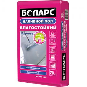 БОЛАРС Express-1050 наливной пол цементный быстротвердеющий