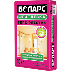 Шпатлевка БОЛАРС Гипс-Эластик гипсовая