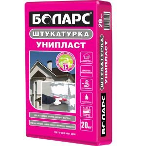 БОЛАРС УНИПЛАСТ цементно-известковая штукатурка, 20 кг