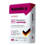 "Декоративная штукатурка Bundex ""Короед"" (Серый), 25 кг"