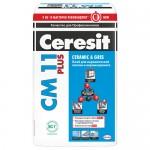 Клей для плитки и керамогранита Ceresit СМ-11 Plus, 25 кг