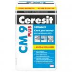 Клей для плитки Ceresit СМ-9, 25 кг