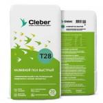 Наливной пол Быстротвердеющий Cleber T28, 20кг