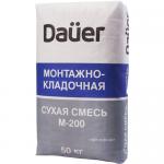 Монтажно-кладочная смесь М-200 DAUER, 50 кг