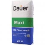 Толстослойный клей для керамогранита и плитки DAUER MAXI, 25 кг