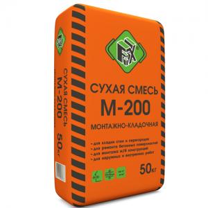 Монтажная кладочная сухая смесь М-200 FIX