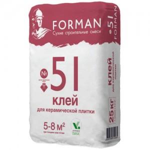 Клей для керамической плитки Forman 51