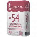 Штукатурно-клеевая смесь для утеплителя Forman №54