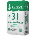 Базовый наливной пол FORMAN №31, 25 кг