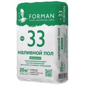 Влагостойкий наливной пол Forman 33