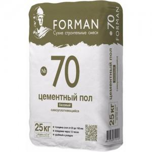 Цментный ровнитель дляпола Forman-70