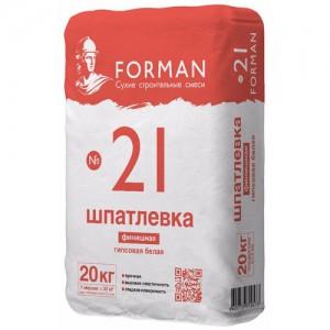 """Суперфинишная гипсовая шпатлевка """"Forman 21"""""""