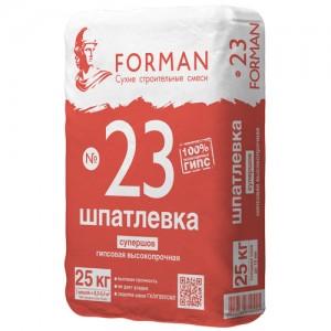 Высокопрочная гипсовая шпатлевка Forman 23