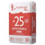 Шпатлевка гипсо-полимерная финишная белая Forman №25