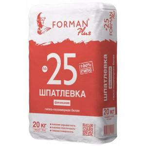Шпатлевка гипсополимерная финишная белая Forman №25