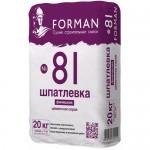 Цементная финишная шпатлевка Forman №81
