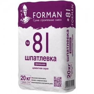 Финишная цементная шпатлевка Forman 81