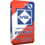 Быстротвердеющий плиточный клей IVSIL EXPRESS+, 25 кг