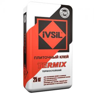 IVSIL TERMIX  термостойкий плиточный клей для печей и каминов