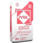 Цементная шпаклевка IVSIL Базовая, 20 кг