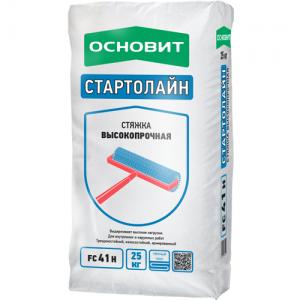 Цементная стяжка пола ОСНОВИТ Т-41 СТАРТОЛАЙН  FC41