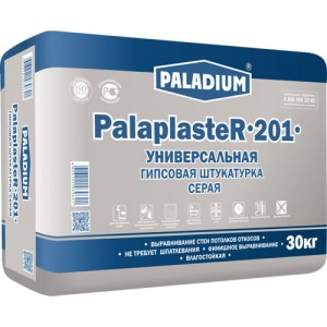 Paladium PalaPlaster-201 - штукатурка гипсовая серая с микро-фиброволокном