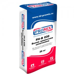 Promix FH-B-020 белая финишная шпатлевка для фасада