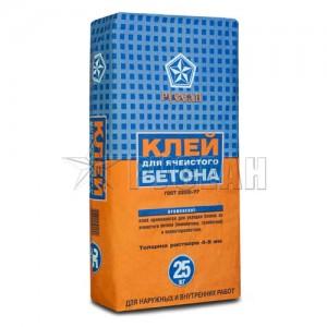 Клей для ячеистого бетона и пеноблоков Русеан, 25 кг