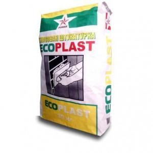 РУСЕАН Ecoplast гипсовая белая штукатурка
