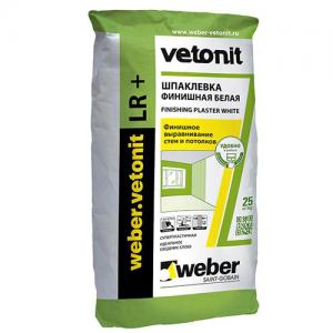Weber.Vetonit LR+ полимерная финишная шпатлевка