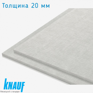 Гипсоволоконная плита КНАУФ-СУПЕРПОЛ, элемент пола 20 мм